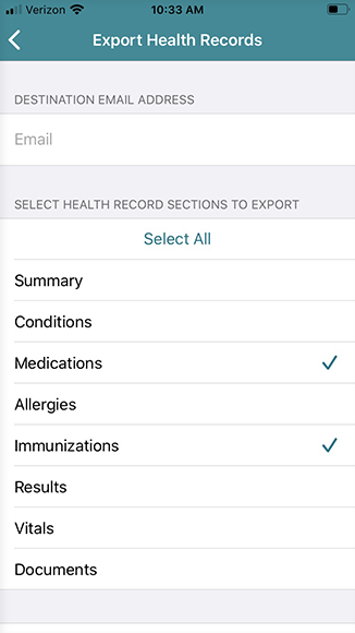 select which records to email
