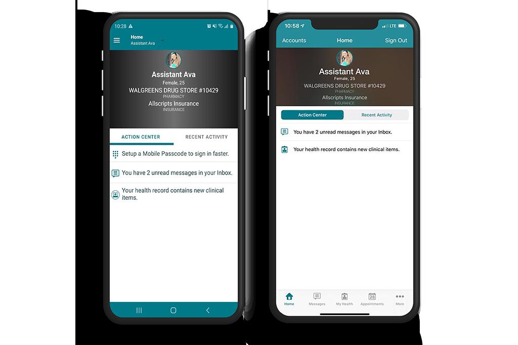 FollowMyHealth App on Android and iOs